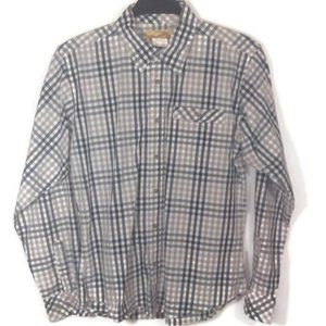 Wrangler 20X Boys Plaid Button Western Shirt XL